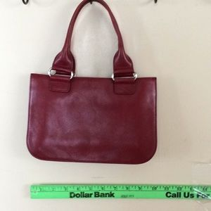 Small red leather banana republic purse.
